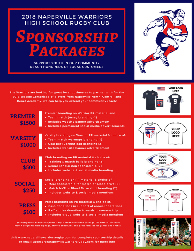 2018 Warriors Sponsorship Flyer FINAL